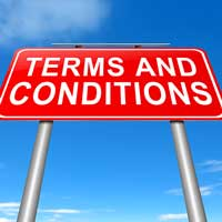 making use of terms and conditions