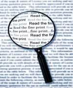 commercial lease fine print