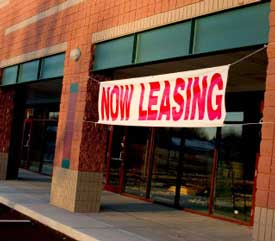 leasing commercial space
